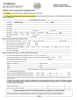 DSGHP Medical Claim Form - Dartmouth College - dartmouth