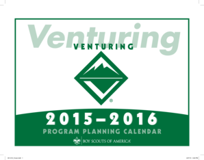 2014-2015 Venturing Program Planning Calendar - Boy Scouts of bb - ntier