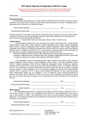 Minor release form photography - Fill Out Online Documents