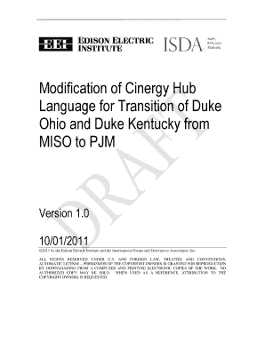 Modification of Cinergy Hub Language for Transition of Duke - eei