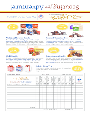 Candy Order Form/Sales Brochure - New Birth of Freedom Council - newbirthoffreedom
