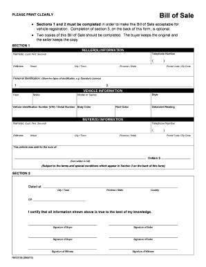 Student Workbook   Bill Of Sale   Prairie Land Regional Division #25  Bill Of Sale Land