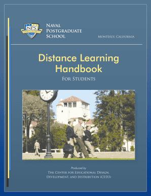 Fillable Online nps BDLb Student Handbook - Naval
