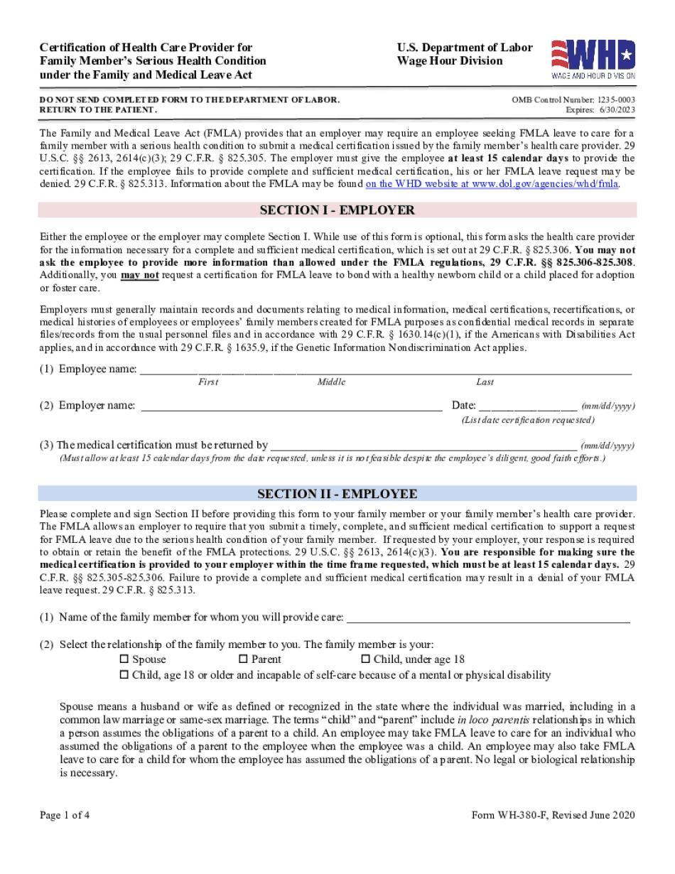 medical certification form for leave of absence
