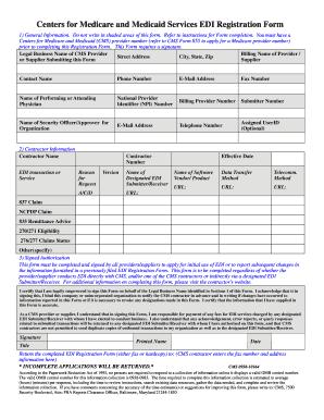 sample medicare application form