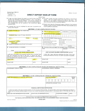 deposit form fill up  Standard Form 11a Sample - Fill Online, Printable ...