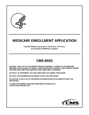 Cms 855s Fillable Form - Fill Online, Printable, Fillable, Blank ...