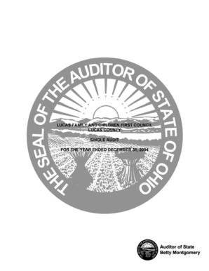 Lucas family and children first council lucas county single audit for ... - auditor state oh