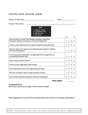 POSTER PEER REVIEW FORM