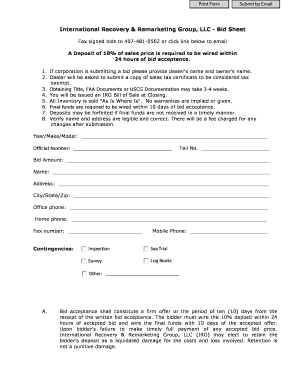 irg group inventory form
