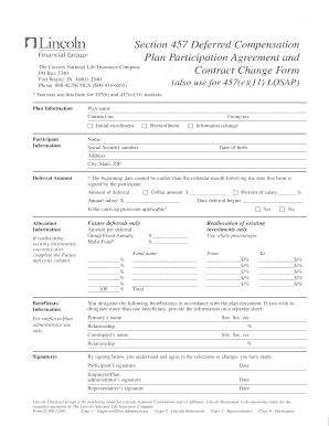 Deferred Compensation Agreement Form Fill Online