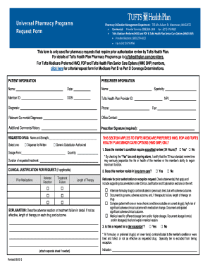 Tufts Prior Authorization Form