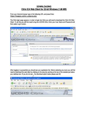 Fillable Online Citrix ICA Web Client for 32-bit Windows (1