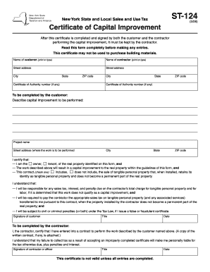 Improvment Certificate Form - Fill Online, Printable, Fillable ...