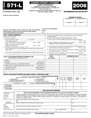 County Of San Mateo Florida Form 571 L - Fill Online, Printable ...