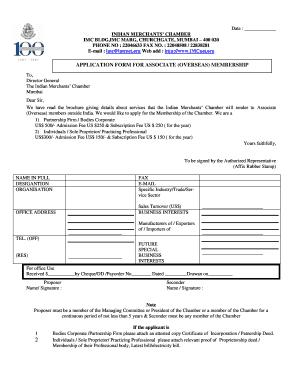 Imc Application Form