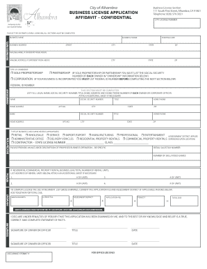 City Of Alhambra Business License Renewal Form - Fill Online ...