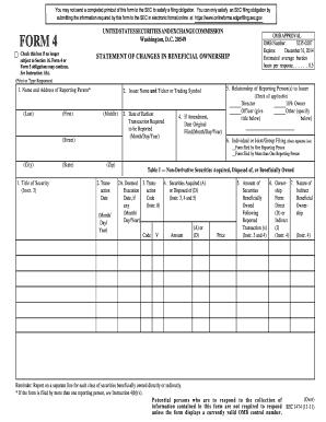 Sec Form 4 >> 2011 2019 Sec Form 4 Fill Online Printable Fillable Blank Pdffiller