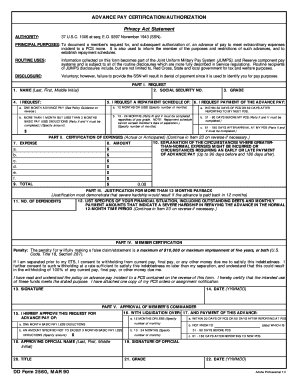 Da Form Advance Pay - Fill Online, Printable, Fillable, Blank ...