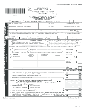 Hawaii Tax Form N13 - Fill Online, Printable, Fillable, Blank ...