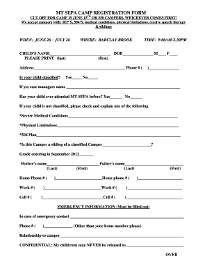 Blank Registeration Forms - Fill Online, Printable, Fillable, Blank   PDFfiller