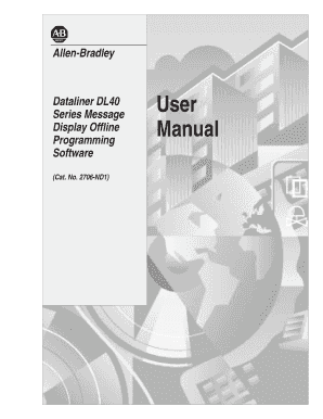 2706-808, DL40 Programming Software User Manual. 2706-ND1