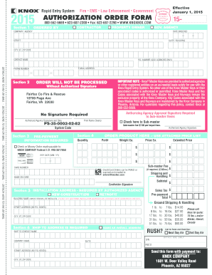 Knox Box Blank Order Form - Fill Online, Printable, Fillable ...