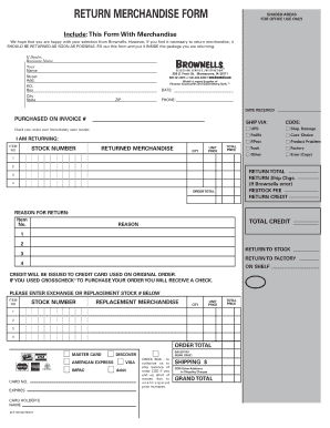 Brownells Return Form - Fill Online, Printable, Fillable, Blank ...
