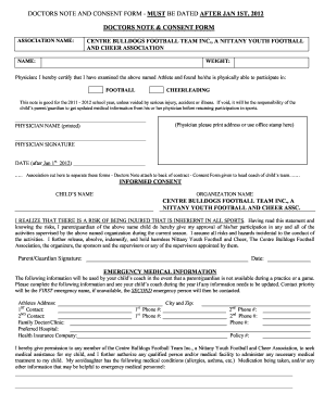 Doctor Note Template Form