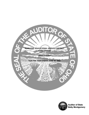 ROSS-PIKE EDUCATIONAL SERVICE DISTRICT - auditor state oh