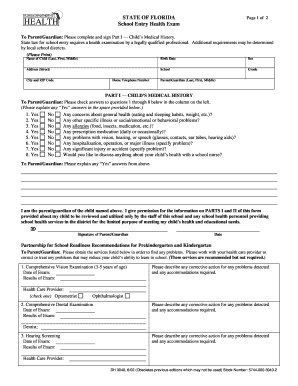 Blank School Health Form - Fill Online, Printable, Fillable, Blank ...