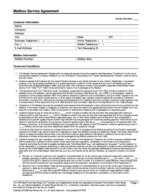 Ups mailbox agreement fill online printable fillable blank ups mailbox agreement platinumwayz