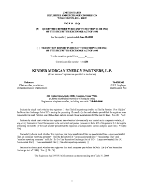 kinder morgan energy partners lp form 1065