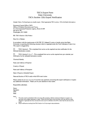 Export Form - Occupational & Environmental Safety Office - Duke ... - safety duke