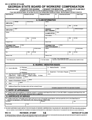 Bill Of Sale Form Georgia State Board Of Workers Compensation ...