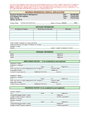 26 Printable Simple Rental Application Form Templates