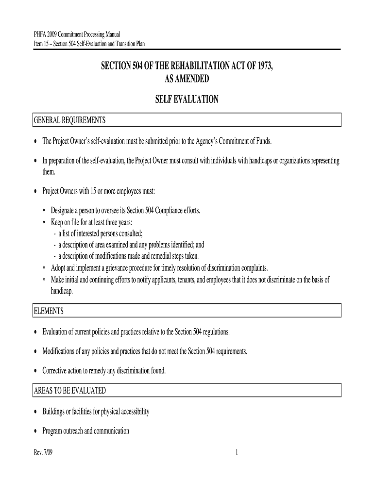 504 Plan Template Doc from www.pdffiller.com