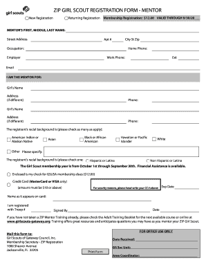 scout registration   fill online printable fillable