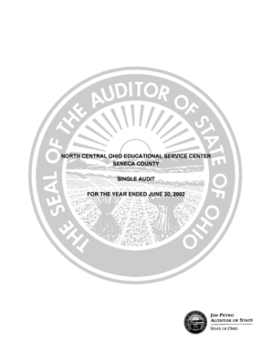 Fillable Online Auditor State Oh North Central Ohio Educational
