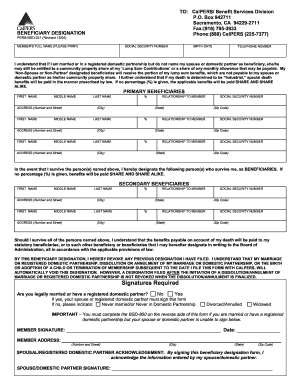 Calpers Beneficiary Fill Online Printable Fillable Blank Pdffiller