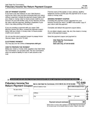 Utah State Tax Form Tc 549 - Fill Online, Printable, Fillable ...