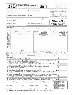 Regional Income Tax Agency Form 37b - Fill Online, Printable ...