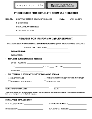 w2 form nc  Cpcc Student W8 - Fill Online, Printable, Fillable, Blank ...