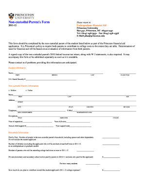 Non Custodial Parent Forms - Fill Online, Printable, Fillable ...