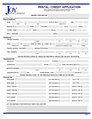 18 Printable Rental Application Florida Forms And Templates