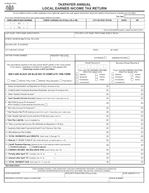 income tax forms: pa local income tax forms