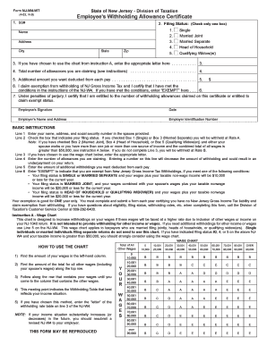 Bill Of Sale Form New Jersey Form Nj-w4 Templates - Fillable ...