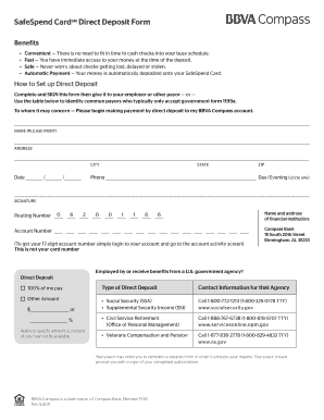 direct deposit authorization form wells fargo Templates - Fillable ...