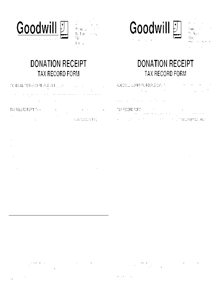 Goodwill Donation Receipt Fill Online Printable Fillable