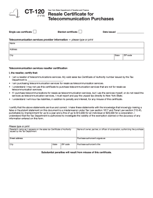 Ny State Resale Certificate Pdf - Fill Online, Printable ...